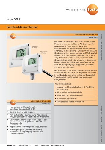 Feuchte-Messumformer -  testo 6621