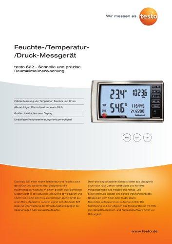Feuchte-/Temperatur-/Druck-Messgerät - testo 622