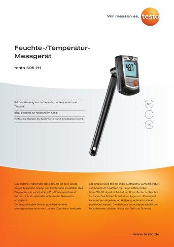Feuchte-/Temperatur-Messgerät - testo 605-H1