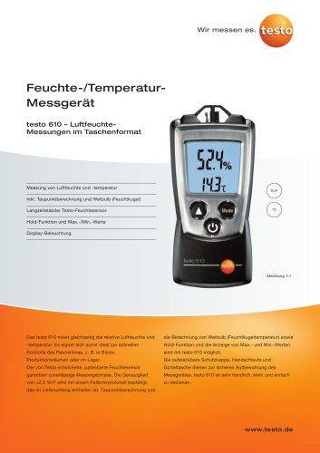 Feuchte-/Temperatur-Messgerät - testo 610