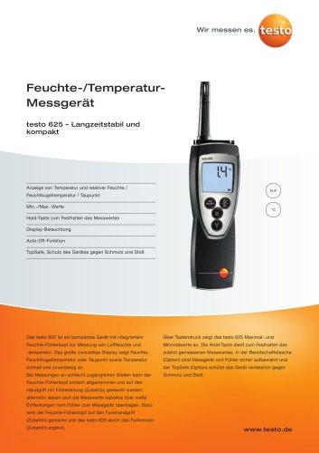 Feuchte-/Temperatur-Messgerät - testo 625