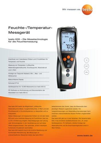 Feuchte-/Temperatur-Messgerät - testo 635