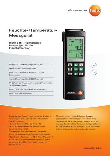 Feuchte-/Temperatur-Messgerät - testo 645