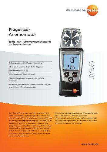 Flügelrad-Anemometer - testo 410