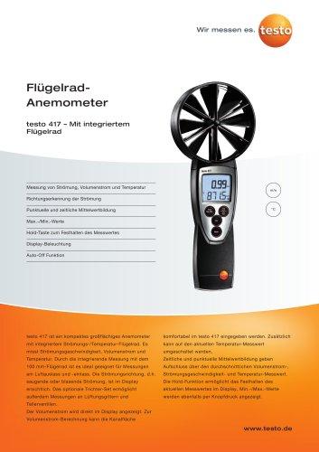 Flügelrad-Anemometer - testo 417