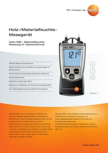 Holz-/Materialfeuchte-Messgerät - testo 606