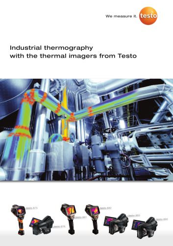 Industrial thermography with the thermal imagers from Testo
