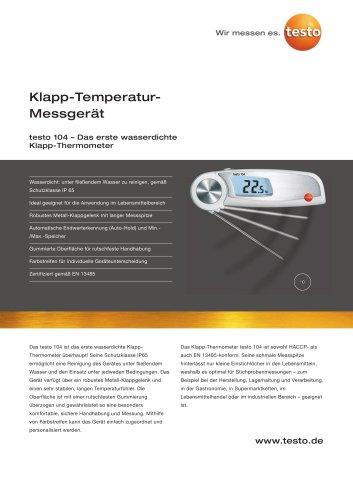 Klapp-Temperatur-Messgerät - testo 104