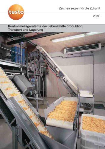 Kontrollmessgeräte für die Lebensmittelproduktion, Transport und Lagerung