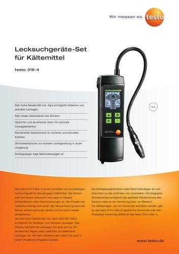 Lecksuchgeräte-Set für Kältemittel - testo 316-4