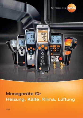Messgeräte für Heizung, Kälte, Klima, Lüftung
