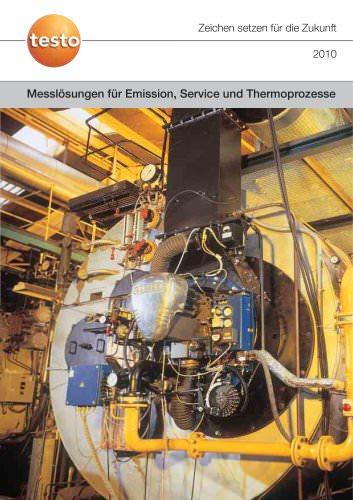 Messlösungen für Emission, Service und Thermoprozesse