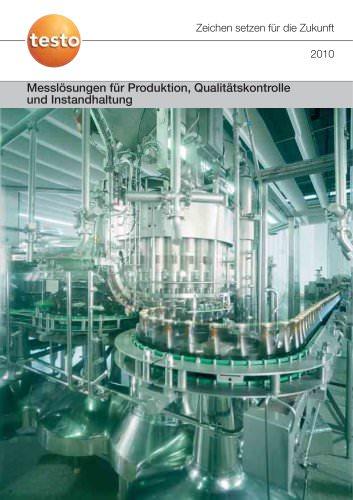 Messlösungen für Produktion, Qualitätskontrolle und Instandhaltung