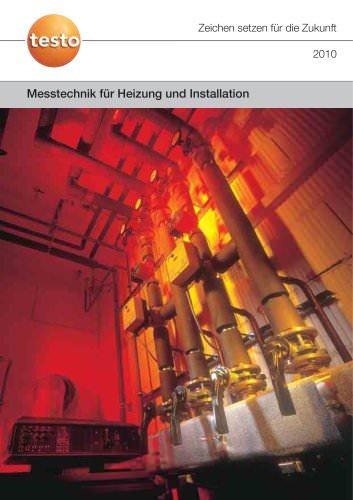 Messtechnik für Heizung und Installation