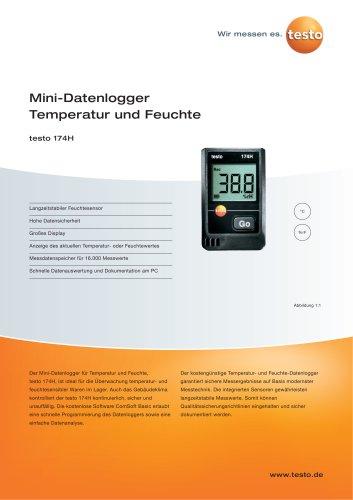 Mini-Datenlogger Termepartur und Feuchte - testo 174H