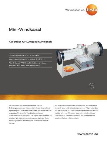 Mini-Windkanal - Kalibrator für Luftgeschwindigkeit