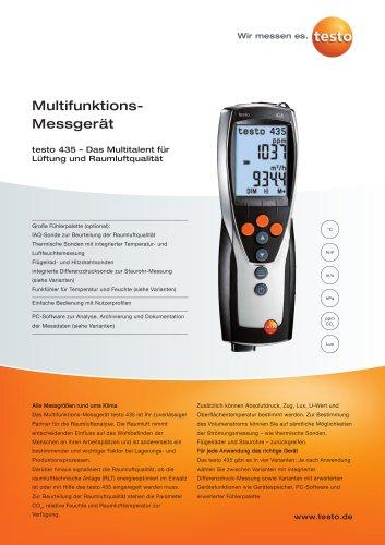 Multifunktions-Messgerät - testo 435