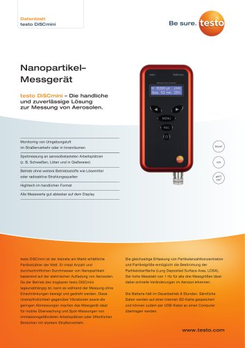 Nanopartikel– Messgerät testo DiSCmini
