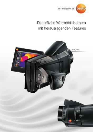 Die präzise Wärmebildkamera mit herausragenden Features - testo 885