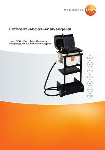 Referenz-Abgas-Analysegerät - testo 360