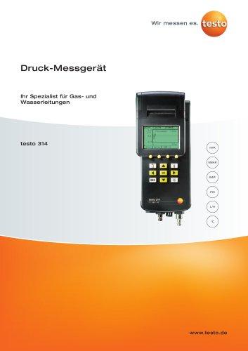 Rückstaumelder- Ihr Spezialist für Gas- und Wasserleitungen - testo 314