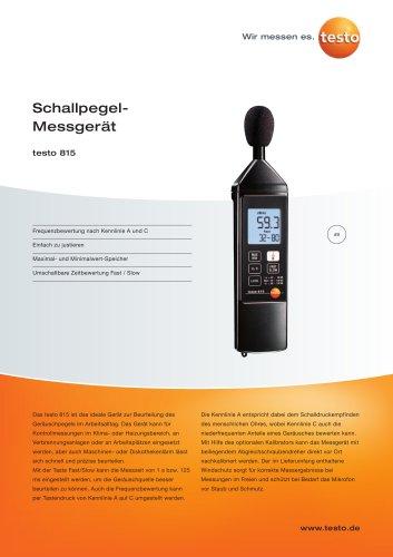 Schallpegel-Messgerät - testo 815