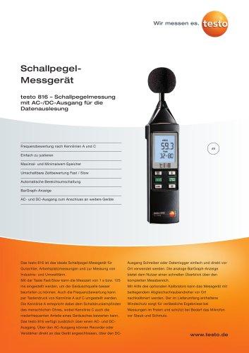 Schallpegel-Messgerät - testo 816