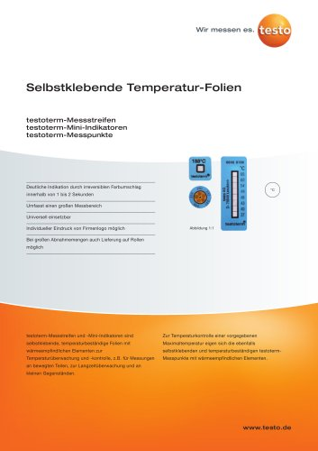 Selbstklebende Temperatur-Folien