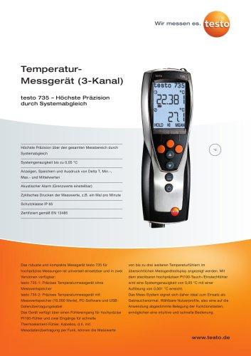 Temperatur-Messgerät (3-Kanal) - testo 735