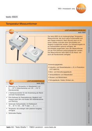 Temperatur-Messumformer - testo 6920