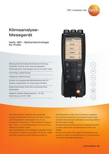 testo 480 Klimaanalyse-Messgerät