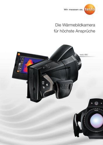 Die Wärmebildkamera für höchste Ansprüche - testo 890