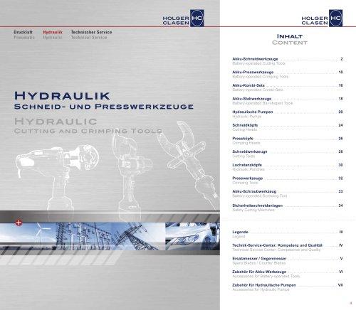 Hydraulische Schneid- und Presswerkzeuge