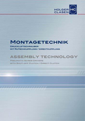 Montagetechnik - Drehschrauber mit Rutschkupplung / Direktkupplung