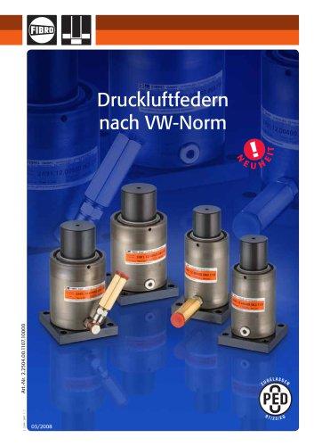 Druckluftfedern nach VW-Norm