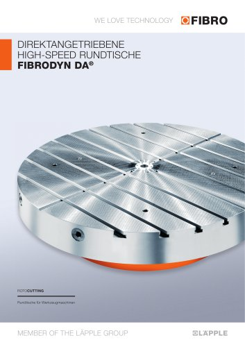 FIBRODYN DA NC-Rundtische mit Torque-Direktantrieb für kombinierte Fräs- & Drehbearbeitung