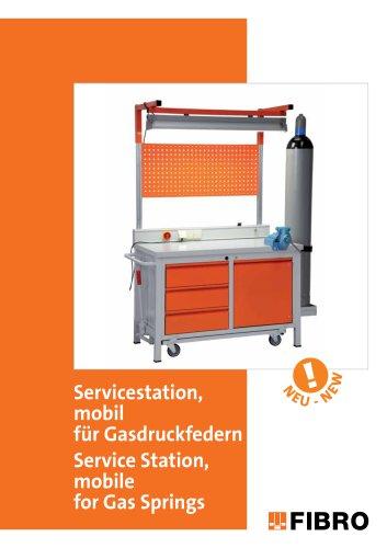 Servicestation, mobil - für Gasdruckfedern