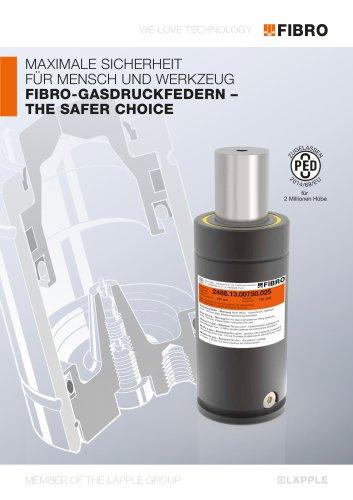 The Safer Choice - Maximale Sicherheit für Mensch und Werkzeug FIBRO-Gasdruckfedern