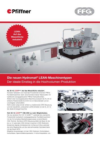 Pfiffner Hydromat LEAN-Maschinentypen