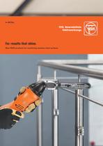New FEIN products for machining stainless steel surfaces