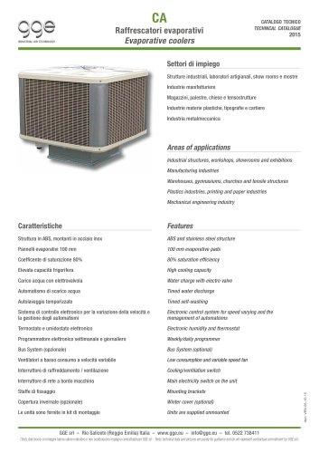 CA – Evaporative coolers