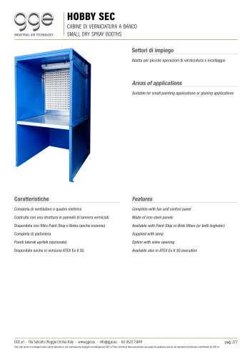 HOBBY SEC – Small dry spray booths