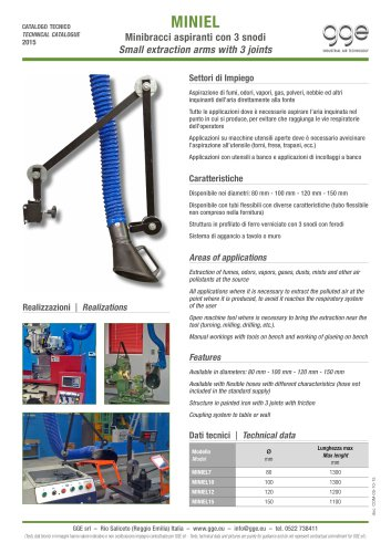 MINIEL – Small extraction arms with joints