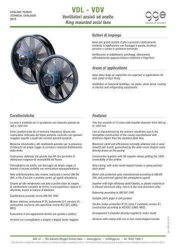 VDL-VDV – Axial fans