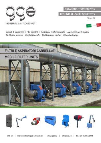 Wheel mounted air filter units
