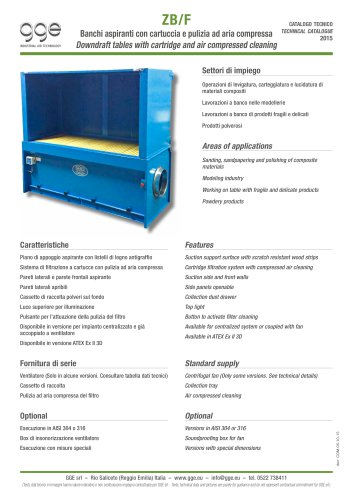 ZB/F – Downdraft table for dedusting