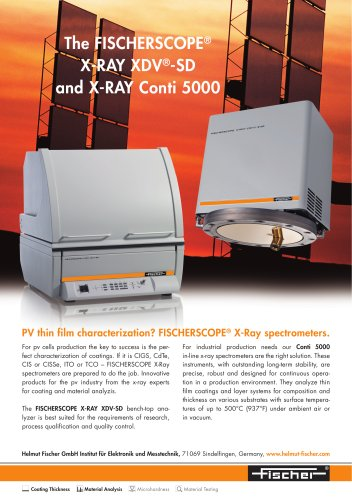 Photovoltaic thin film characterization with FISCHER X-Ray spectrometers