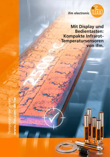 Mit Display und Bedientasten: Kompakte Infrarot-Temperatursensoren von ifm.