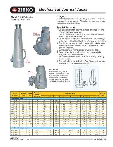 Aluminum Mechanical Journal Jack