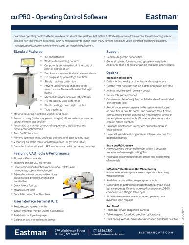 cutPRO - Operating Control Software
